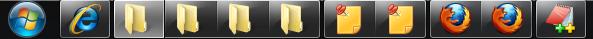 让Win7任务栏不合并且不显示标题