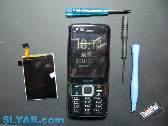 Nokia N82手机换屏记
