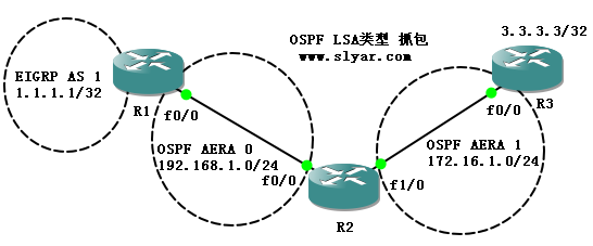 通过Wireshark过滤器分析OSPF LS Type