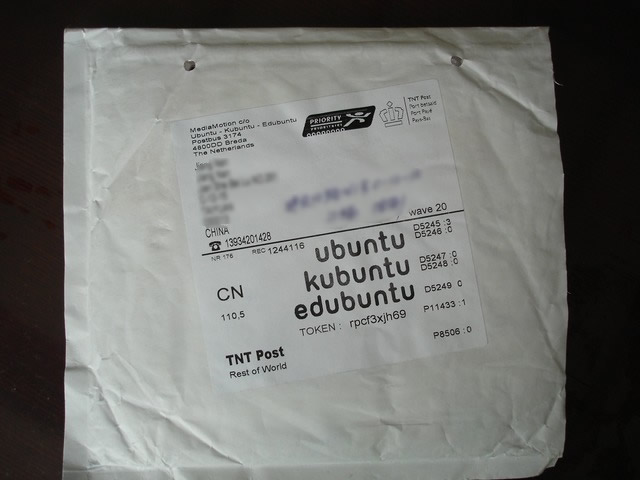 收到Ubuntu的光盘