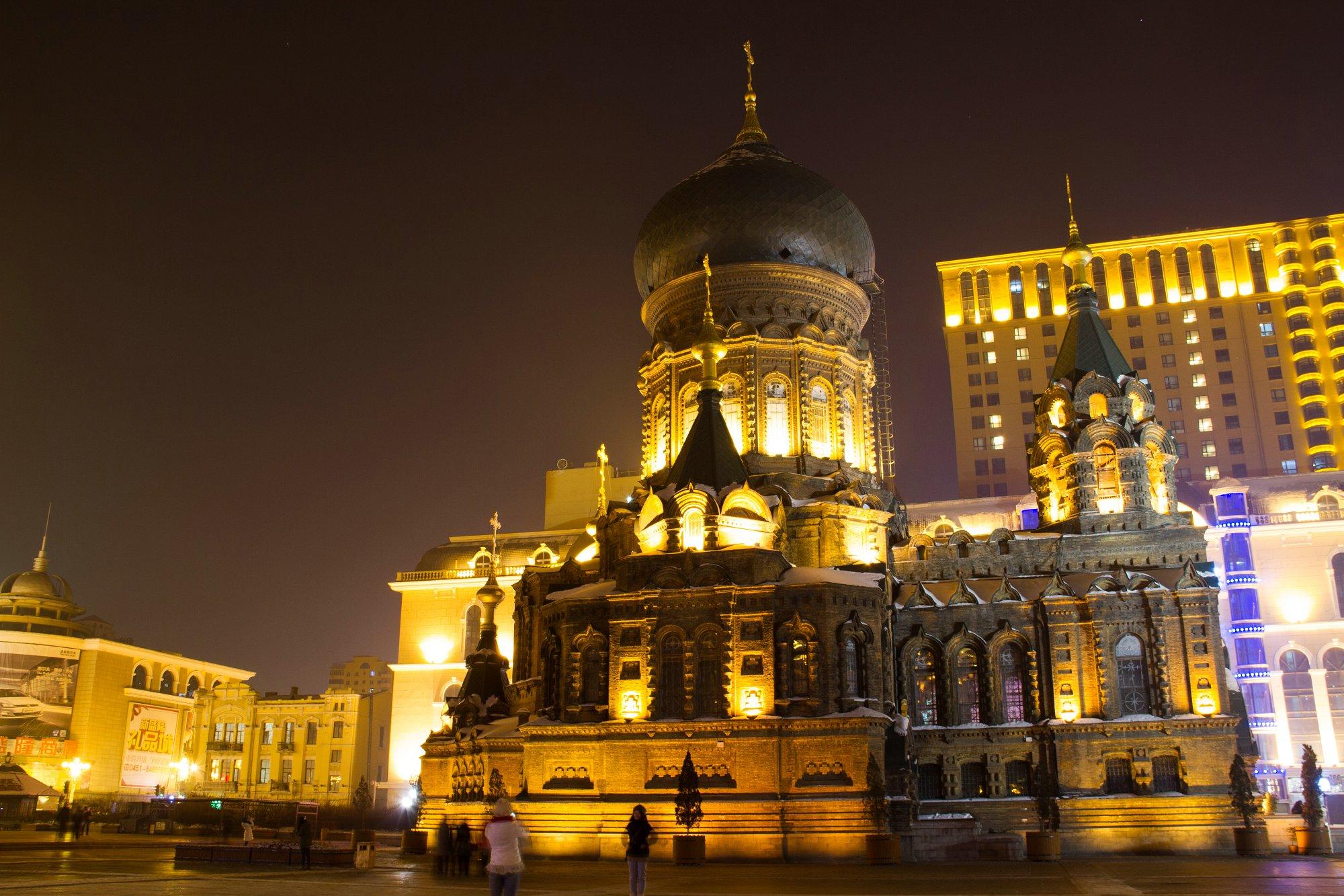 夜游索菲亚教堂