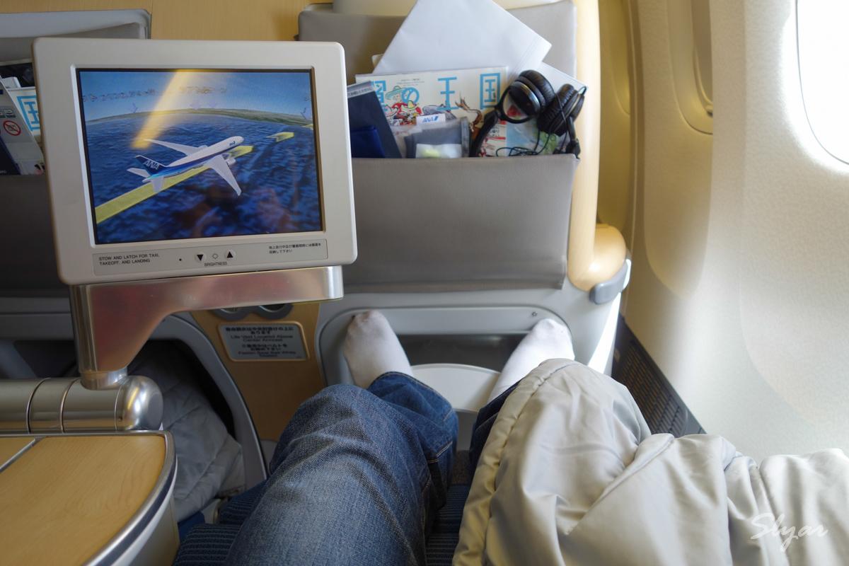 第二程:ANA全日空波音777-200东京羽田至洛杉矶商务舱