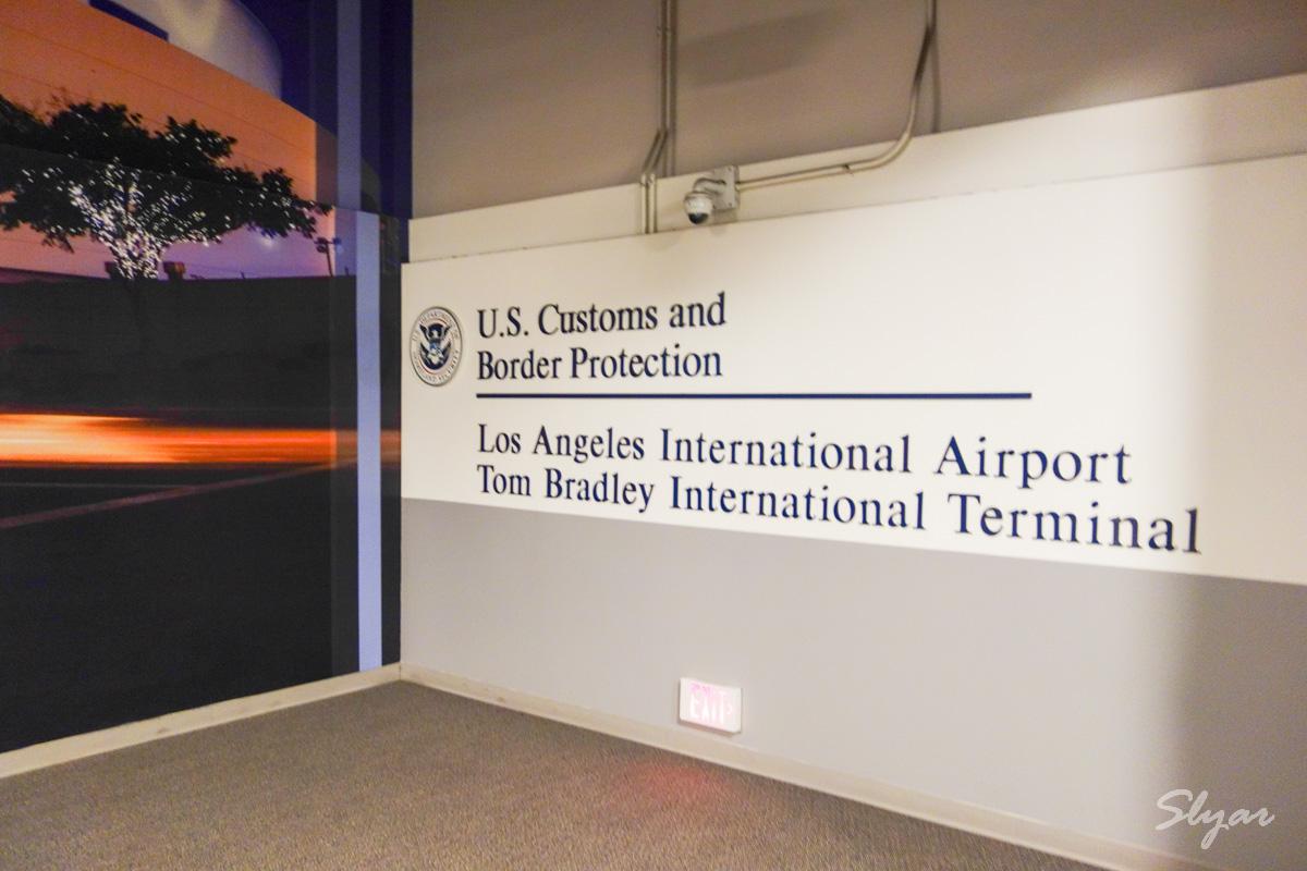 通过洛杉矶机场(LAX)美国海关及边境保护局(CBP)进入美国