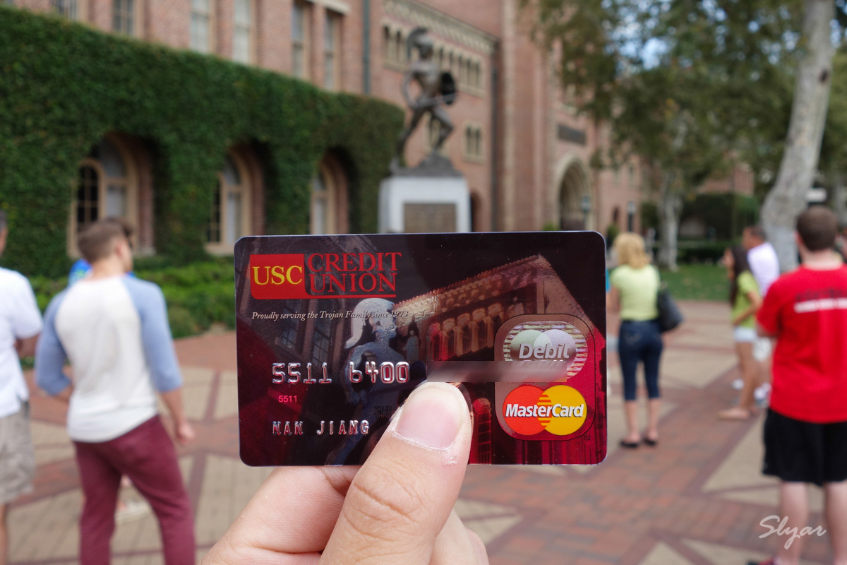 在USC Credit Union领取Debit Card及在美国使用ATM