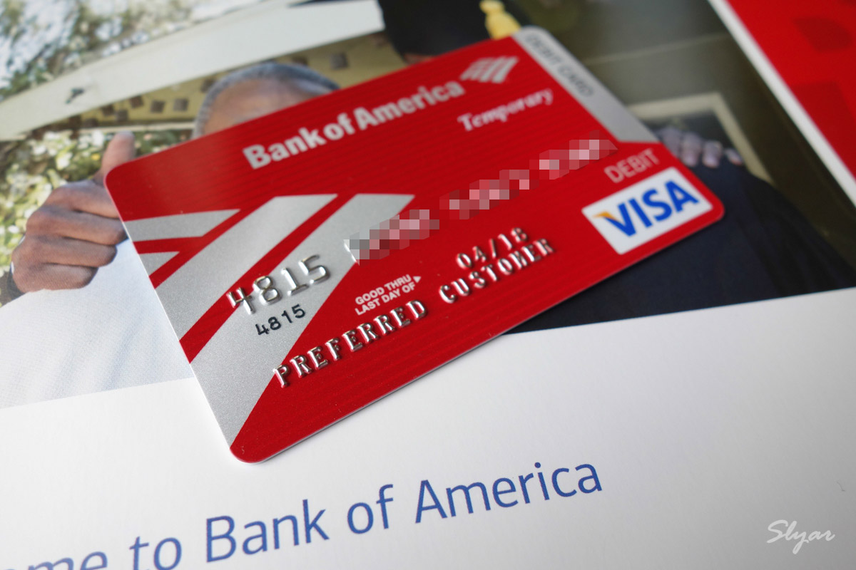 Bank of America(BOA)银行开户Debit Card借记卡和信用卡